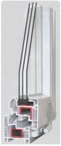 Alumiglass - Perfil 70/PVC/300