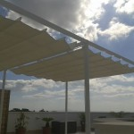 Toothpick awning pergola in Mallorca